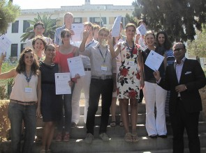 Academy Students in Spetses holding their Certificates